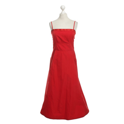 Jil Sander Bustier Dress in Red