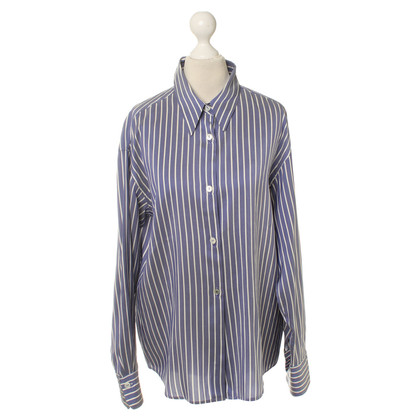 Jil Sander Striped silk blouse
