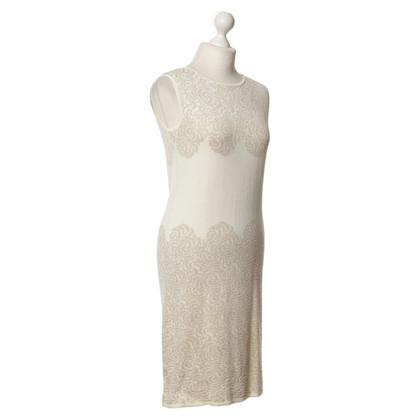 Max Mara Gebreide jurk in crème