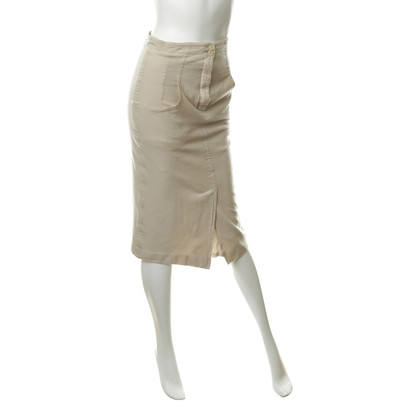 Jil Sander Gonna in lana beige