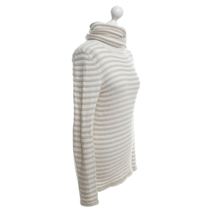 Stefanel White / Beige roll-neck sweater