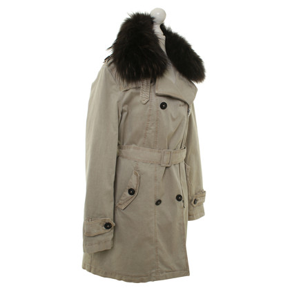 Blonde No8 Real fur trim parka