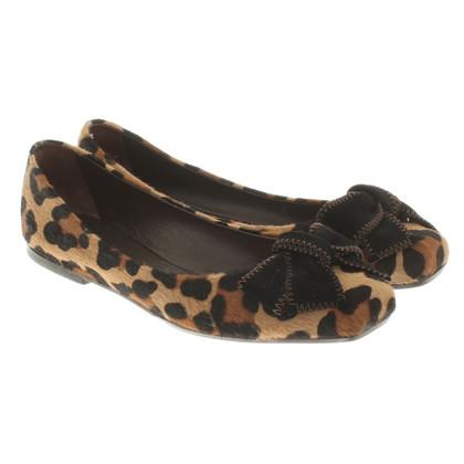 Unützer Ballerina's met luipaardprint