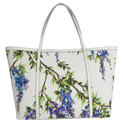 Dolce & Gabbana Large handbag with flowers