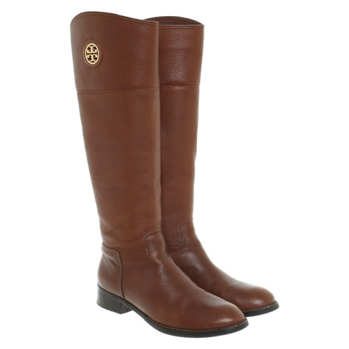 8aa65475313 Tory Burch Boots in brown - Second Hand Tory Burch Boots in brown ...