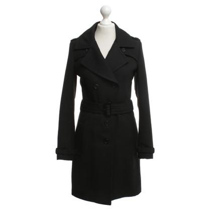 Drykorn Trenchcoat in zwart