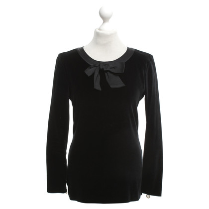 Chanel Velvet Top in nero