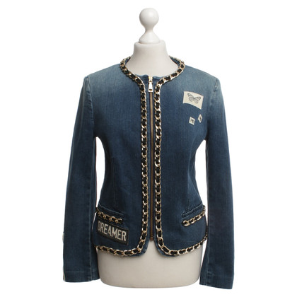 Moschino Love Jean jas met kettingdetail