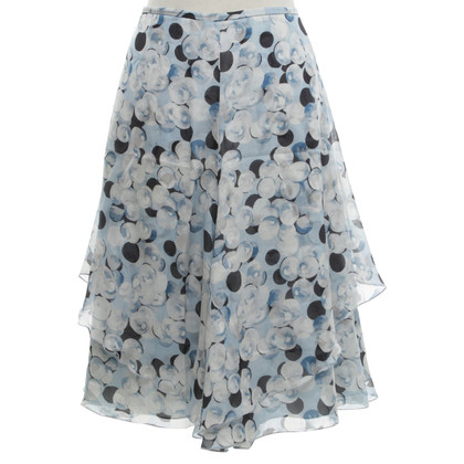 Armani 4 lanes-skirt in light blue / white