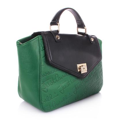 Just Cavalli Grüne Lederhandtasche