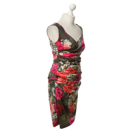Talbot Runhof Cocktail dress with a floral pattern