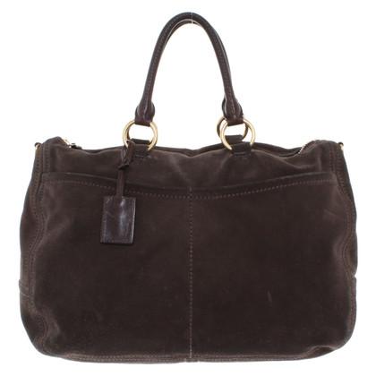 Car Shoe Suede shoulder bag