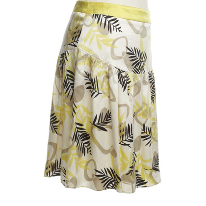 Laurèl Silk skirt with floral print