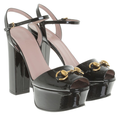 Gucci Sandalen Patent Leather