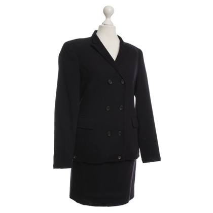 Jil Sander Wool costume blue