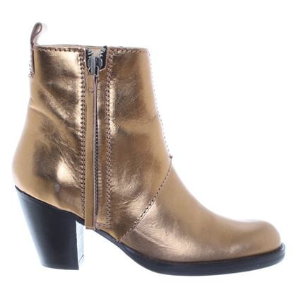 Acne Pistol boots in gold