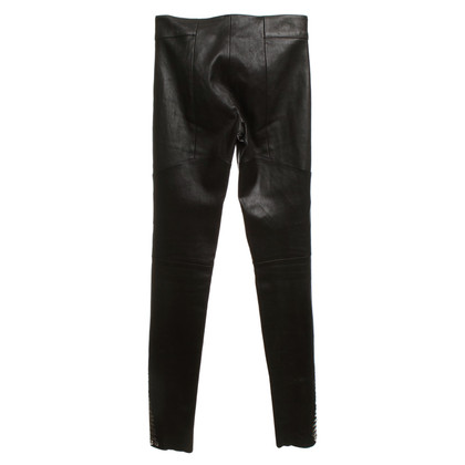 Jitrois Leather pants in a biker look