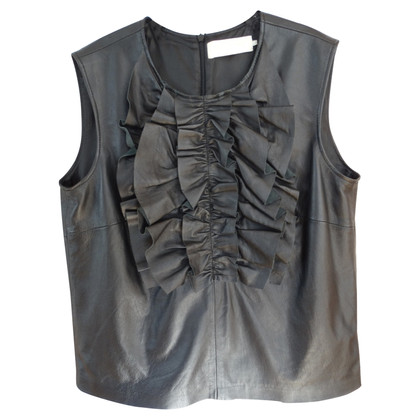 L'autre Chose leather top