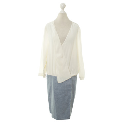 Tibi Wrap dress in bicolor