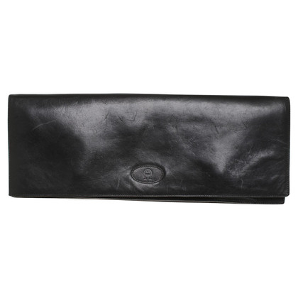 Aigner Leder-Clutch in Schwarz
