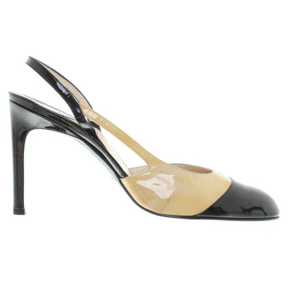 Chanel Slingbacks in beige / black