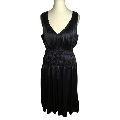 Marc Cain Silk dress in dark blue