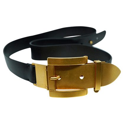 Marni Leather belt with gold buckle