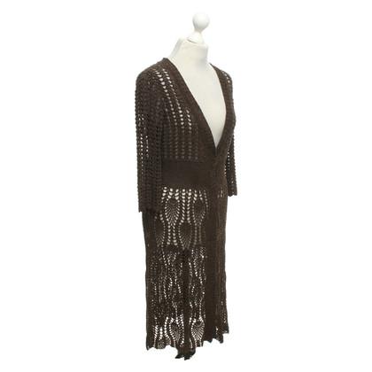 Escada Crochet dress in mottled brown