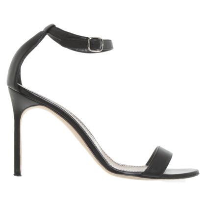 Manolo Blahnik Sandalen in zwart