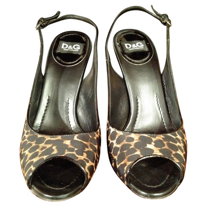 Dolce & Gabbana Slingback peep-toes