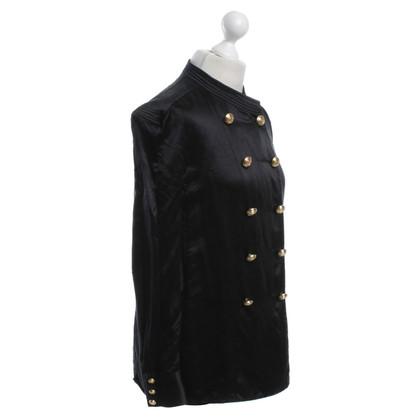 Balmain X H&M camicetta di seta in nero