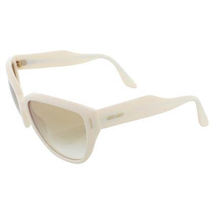 Miu Miu Occhiali da sole in crema bianca