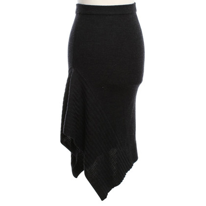 All Saints Knit skirt in black