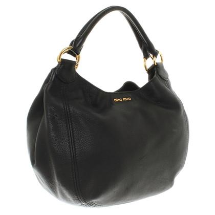 Miu Miu Leather shopper in black