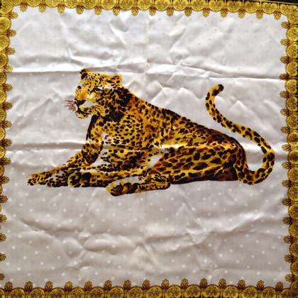 Carven Seidentuch mit Leoparden-Print