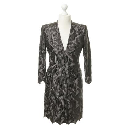 Akris Silk coat with geometric pattern