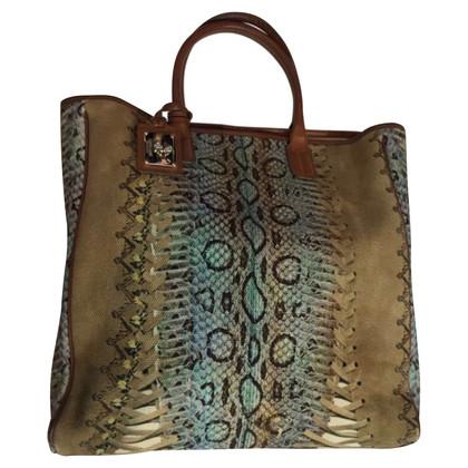 Roberto Cavalli Cotton canvas shopping bag