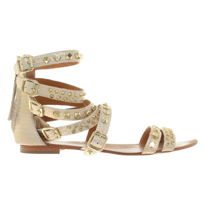 Ash Sandals in gold color