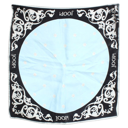 JOOP! Silk scarf with pattern