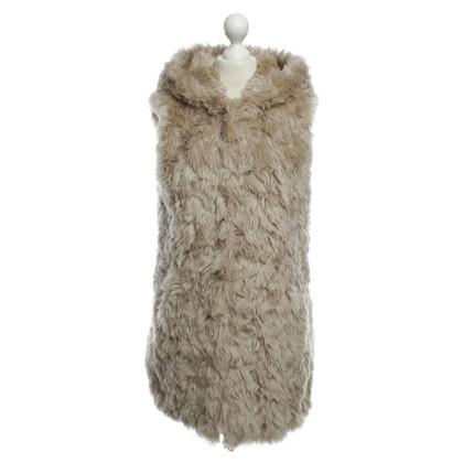 Pinko Fur vest with hood