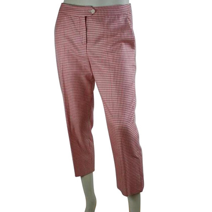 Christian Dior Pantaloni con plaid