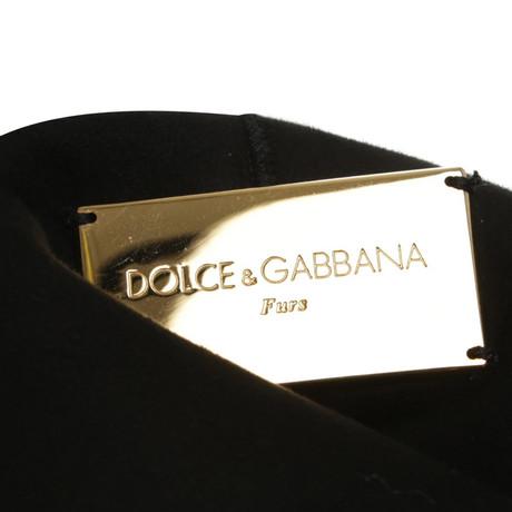 Weste Schwarz amp; Gabbana Dolce Lammfell Schwarz Dolce in amp; a0XqwH