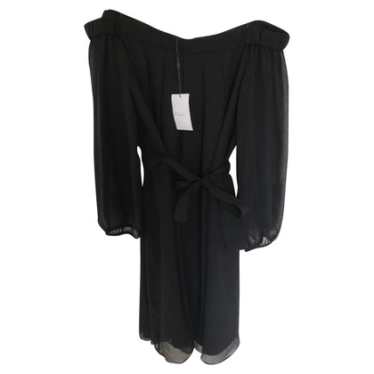 Claudie Pierlot Zwarte bardot-jurk