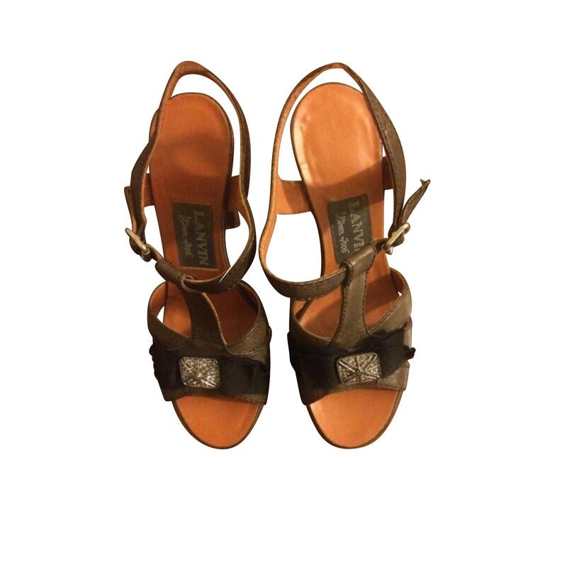 Lanvin Sandals in Brown - Second Hand