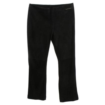 Marc Cain Suede broek in zwart