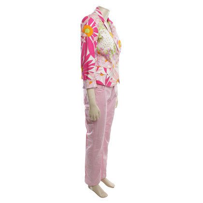 Versace Suit with floral pattern