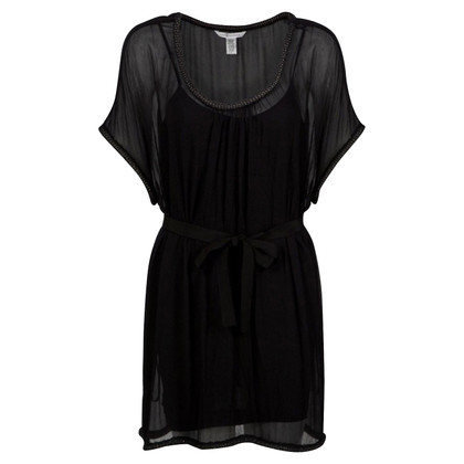 Diane von Furstenberg Black Romper Dress