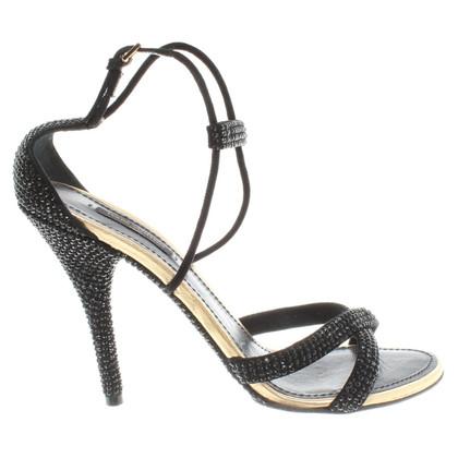 Louis Vuitton Sandaletten mit Schmucksteinbesatz