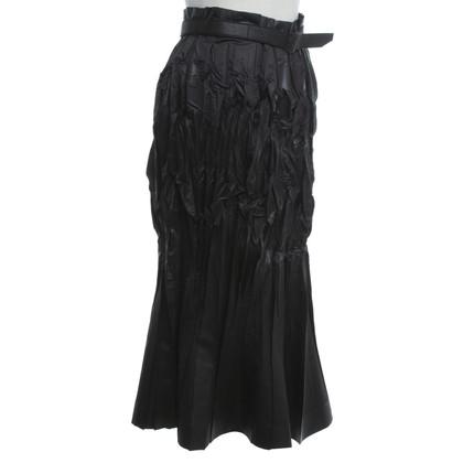 Issey Miyake jupe plissée en noir