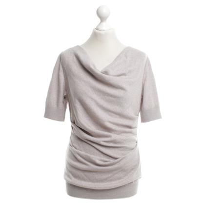 Talbot Runhof haut tricoté en gris / beige